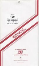 Showgard Clear Stamp Mount Strips 120mm x 240mm For Miniature Sheets Pack Of 7