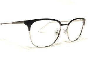 Prada VPR59U 1BO-1O1 Unisex Black & Silver Modern Rx Eyeglasses Frames 53/17~145