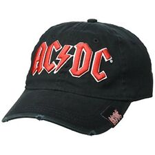 b3d8a8dbd79af Ac dc Black Baseball Cap With Red Logo Officially Licensed Rock or Bust