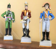 Three Napoleonic Officer Soldier Porcelain Figurine