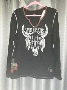 Double D Ranchwear embroidered top - size XL