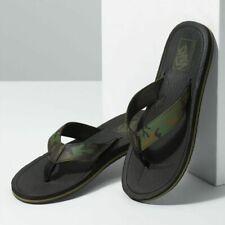 NWT Vans NEXPA SYNTHETIC FLIP FLOPS Sandals CAMO BLACK GREEN Mens 7-13 Shoes