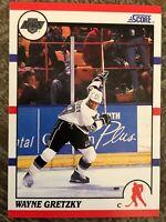 1990 SCORE #1 WAYNE GRETZKY Los Angeles KINGS Edmonton OILERS HOF - GEM MINT