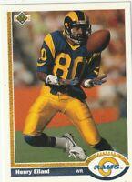 FREE SHIPPING-MINT-1991 Upper Deck #362 Henry Ellard Los Angeles Rams