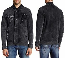PRPS Hideki Slim Fit Baumwolle Cardigan/Jacke in schwarz Gr. XXL NWT $300