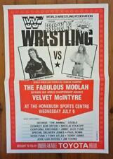 Vintage 1986 WWF WRESTLING  Promotional POSTER Australia- Moolah/McIntyre Women