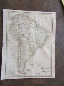 1838 ORIGINAL Map of South America