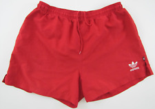 84c2c8524 Adidas vintage 1990s red polyester shorts Hose soccer athletic D6 M GB 34