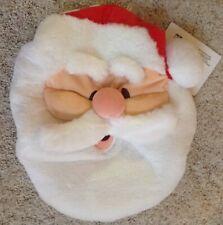 Santa Claus Toilet Lid Cover Plush Bathroom Decor New