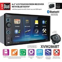Dual Electronics XVM286BT 6.2 inch LED Backlit LCD Multimedia Touch Screen Doubl