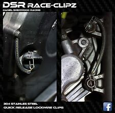 2 packets  extra small DSR Race-Clipz, lockwire, spring clips, motorcycle racing