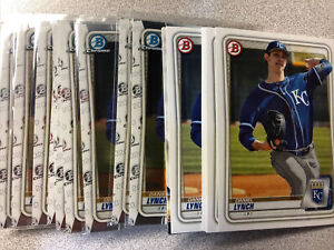 Daniel Lynch 22 card rookie lot Kansas City Royals