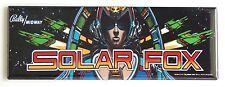 Solar Fox Marquee FRIDGE MAGNET (1.5 x 4.5 inches) arcade video game header