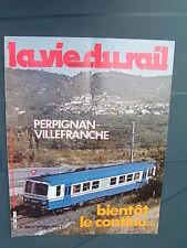 vie du rail 1982 1865 VILLEFRANCHE VERNET VINçA BAINS CHAUSSIN LES JOUSSEROTS