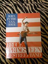 prgm Bruce Springsteed Born in The Usa 1984 Japan Tour Program Tour Book
