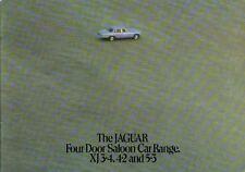 Jaguar XJ 3.4 4.2 5.3 Saloon Series 2 4 door 1975-77 Original UK Sales Brochure