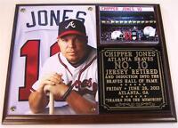 Chipper Jones #10 Jersey Retirement Atlanta Braves HOF Photo Plaque