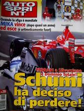 Autosprint 29 2001 Domina la Ferrari a Silvestone. GP GranBretagna. Cart Toronto