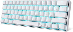 Royal Kludge RK68 Ice Blue Backlit Wireless/Wired Keyboard BLUE SWITCH,Dual, NEW