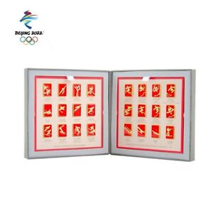 A Set Of 24 Pieces Beijing 2022 Olympic Games Sports Icon Commemorative Pin