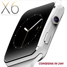 smartwatch orologio iPhone android ios CON SIM BLUETOOTH SMART WATCH X6 white