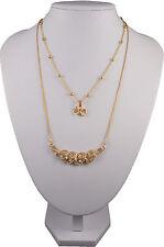Tono Oro dos collar con pedrería clara