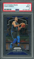 Luka Doncic Dallas Mavericks 2019 Panini Prizm Basketball Card #75 Graded PSA 9