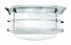 Thomas Lighting SL928378 Newport Outdoor Ceiling Light, Brushed Nickel