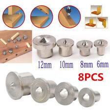 8pcs 6/8/10/12mm Tenon Dowel Center Point Pin Set Locator Drill For Drill Hole