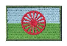Patche écusson drapeau Rom Gitan Tzigane thermocollant patch 80 x 45 mm