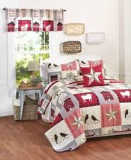 Country Primitive Sweet Home Quilt Pillow Sham Farm Sheep Bird Cabin Tree Flower