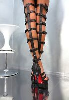 MADE IN ITALY UNIQUE SEXY HIGH HEELS BOOTS DS10 PUMPS STIEFEL SANDALEN LEDER 42