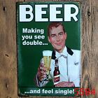 Metal Tin Sign beer Decor Bar Pub Home Vintage Retro Poster Cafe ART