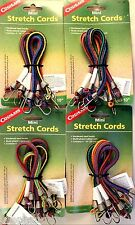 16 PK 10 INCH BUNGEE CORDS SET OF 16 STRETCH TO 15 INCH, MULTISTRAND RUBBER CORE