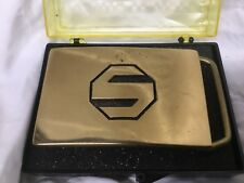 """S"" on it 3"" x 2"" Super Hero New Vintage Solid Brass Belt Buckle with a Block"