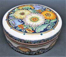 Rare Antique CHICAGO ATLAN SATSUMA Art Nouveau Style Porcelain Box  c. 1919