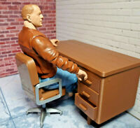 Desk and Chair Set 1/10 Scale Shop Garage Diorama Action Figure Dollhouse