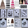 Lace Flower Cake Cookie Fondant Side Baking Wedding Stencil Decorating DIY Tools