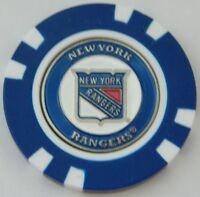 NY New York Rangers NHL Magnetic Poker Chip removable Golf Ball Marker