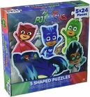Set of 5 PJ Masks Shaped Puzzles 24 Piece Jigsaw Games Toys NEW US SELLER