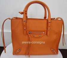 BNWT Balenciaga Orange Mandarin Mini A4 Papier Zip-Around Crossbody Tote Bag