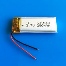 3.7V 280mAh Li Po Rechargeable Battery 501540 for MP3 GPS Headset Bluetooth MP4