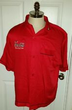 AMF Coca Cola Bowling Club Shirt Button Down Mens Red Size Large Rayon