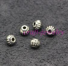 Tibetan Silver spacer Beads Fit DIY Charm Bracelet 30-1000pcs 6x4mm hole 2mm 4#