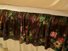 """Ralph Lauren Queen Bed Skirt 15"""" drop Brittany Purple Floral"""