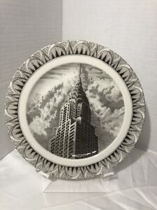 """222 Fifth Slice of Life CHRYSLER BUILDING 8"""" Plate by Kent Barton"""