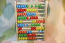 Kaper Kidz Children's Educational Wooden Counting Number Abacus! 100 Beads!