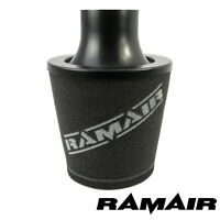 Ramair 70Mm Od Neck Universal Air Filter Aluminium Induction Intake Cone Black