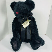 Gund SIGNATURE COLLECTION ZANSIBEAR Black Shaggy JOINTED TEDDY BEAR New LIMITED