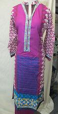 summer collection new  design printed lawn cotton pant salwar kameez Size S 38
